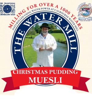 Christmas Pudding Muesli Label
